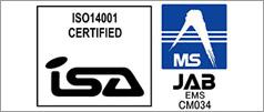 ISO14001:2004認証取得