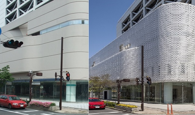 Arts Maebashi, Before (left) and After (right) Refurbishment