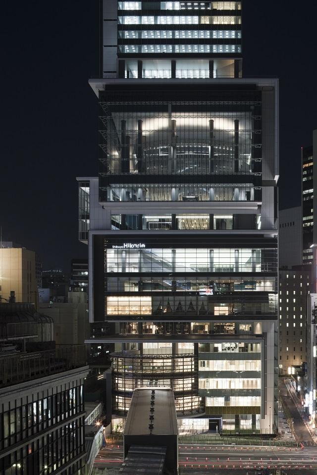 Shibuya Hikarie at night