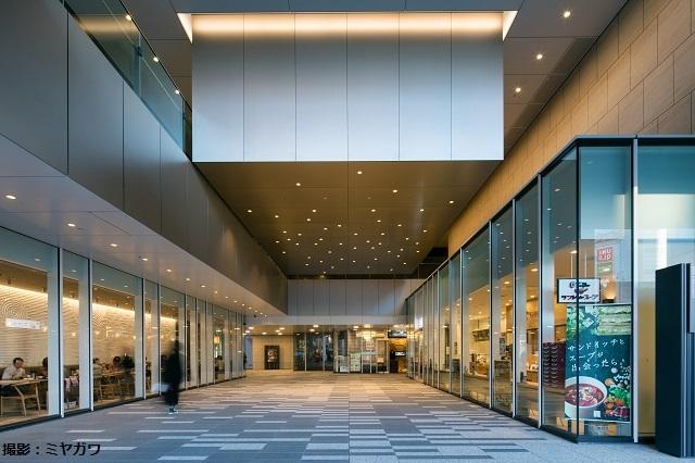 Cultural Square - Bright Dip Anodized Aluminium Eaves