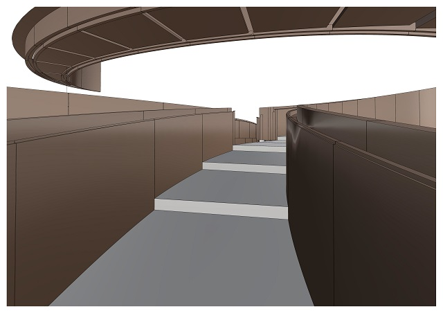 3D design data of the interior ramp.