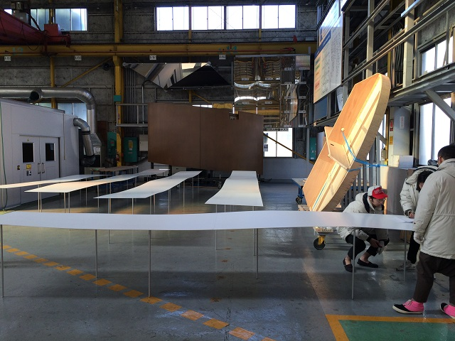 Each steel table undergoes careful inspection by Kikukawa's employees and the designers