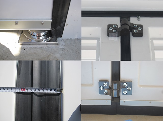 Shumon door catches, hinges and gaskets.