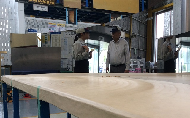 Quality inspection of the double-curved mirror-polished stainless steel panels