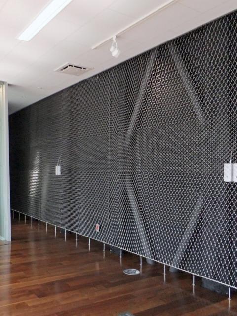 Kikukawa Group Tokyo Office, interior mesh wall