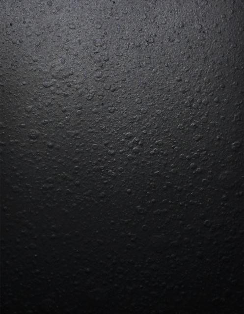 Sample of 'cast painted (matte black)' steel, from Kikukawa's steel finish sample book