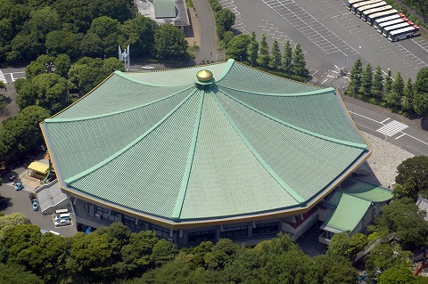 The birds-eye view of Nippon Budokan