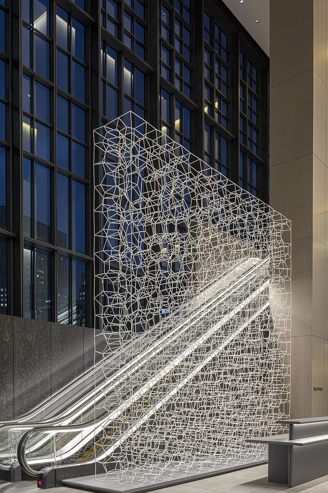 FOAM: A Wall Inspired by Bubbles, Fabricated from Welded Steel Round Bars
