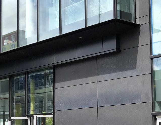 Dark zinc phosphate coated steel panels