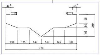 昭和館:山形パネルの断面図