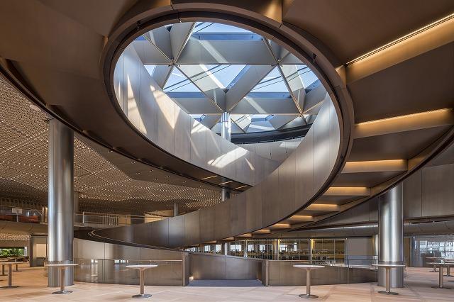ブルームバーグの内部螺旋階段