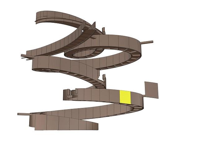 3Dデータからパネルを一枚抽出し、納まりの検討や作図を行います