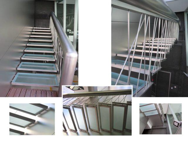 菊川グループの東京オフィスの階段。