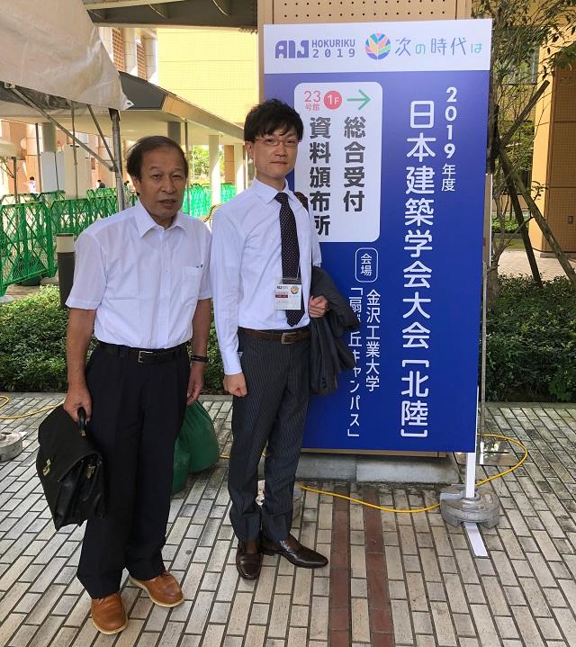 発表を担当したKIKUKAWAの2名の設計部社員