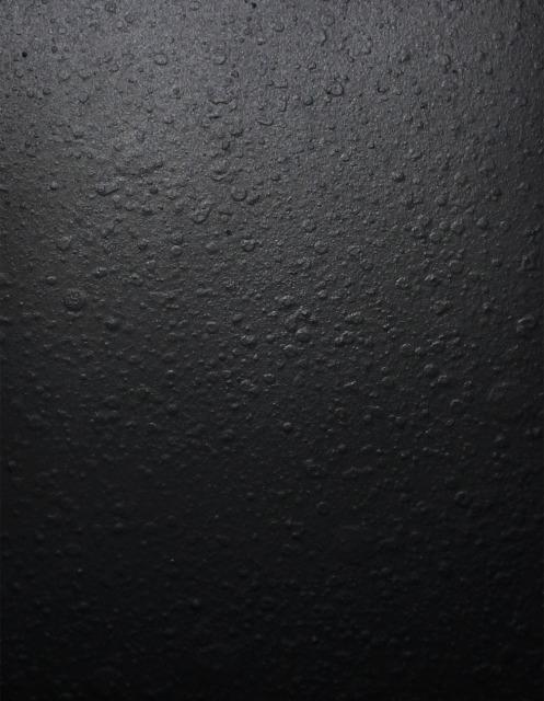 KIKUKAWAのスチール・サンプル帳に掲載している「鋳肌風塗装(艶消し黒)」仕上