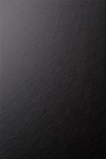 KIKUKAWAのアルミ・サンプル帳に掲載している「ハードPHL+ブラック陽極酸化複合皮膜」仕上
