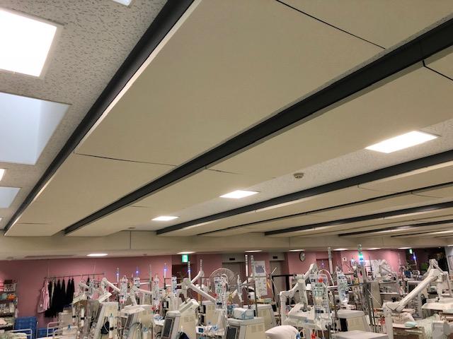 輻射天井施工後の練馬桜台クリニックの様子