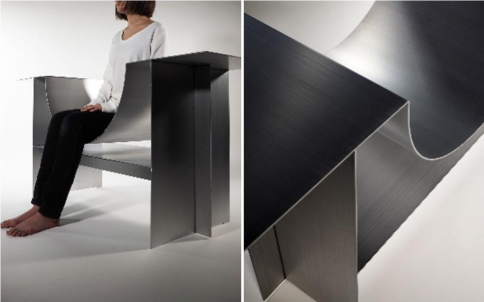 桑沢デザイン研究所とのコラボレーションにより、ファイバーレーザー溶接で製作した椅子